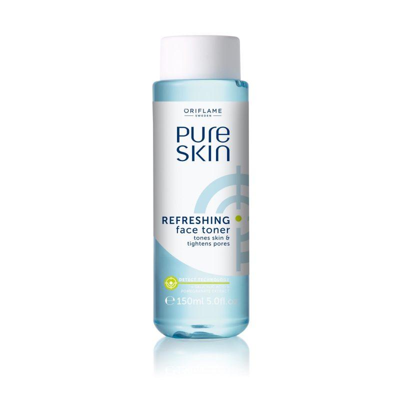 تونر شاداب کننده پیور اسکین اوریفلیم Pure Skin Toner مخصوص پوست چرب