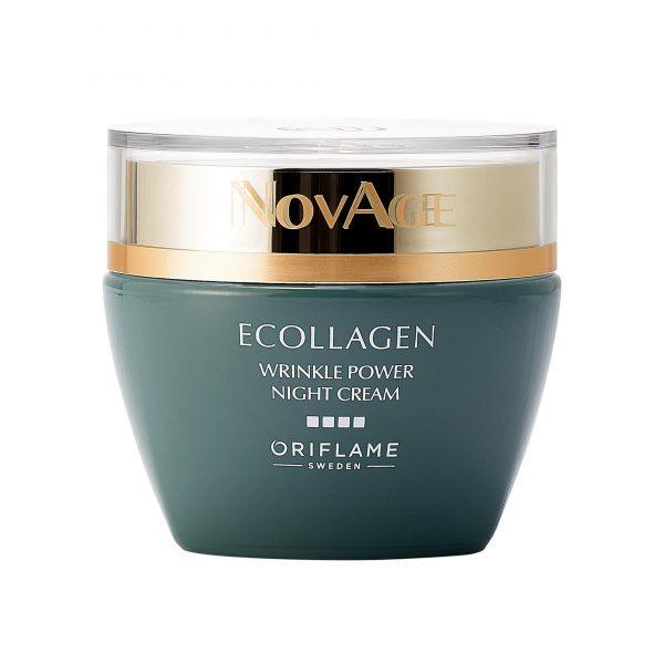 کرم شب نوایج اکلاژن رینکل پاور اوریفلیم Novage Ecollagen مناسب بالای 30 سال