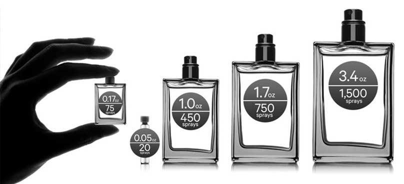 انتخاب سایز و ابعاد مناسب شیشه های عطر زنانه