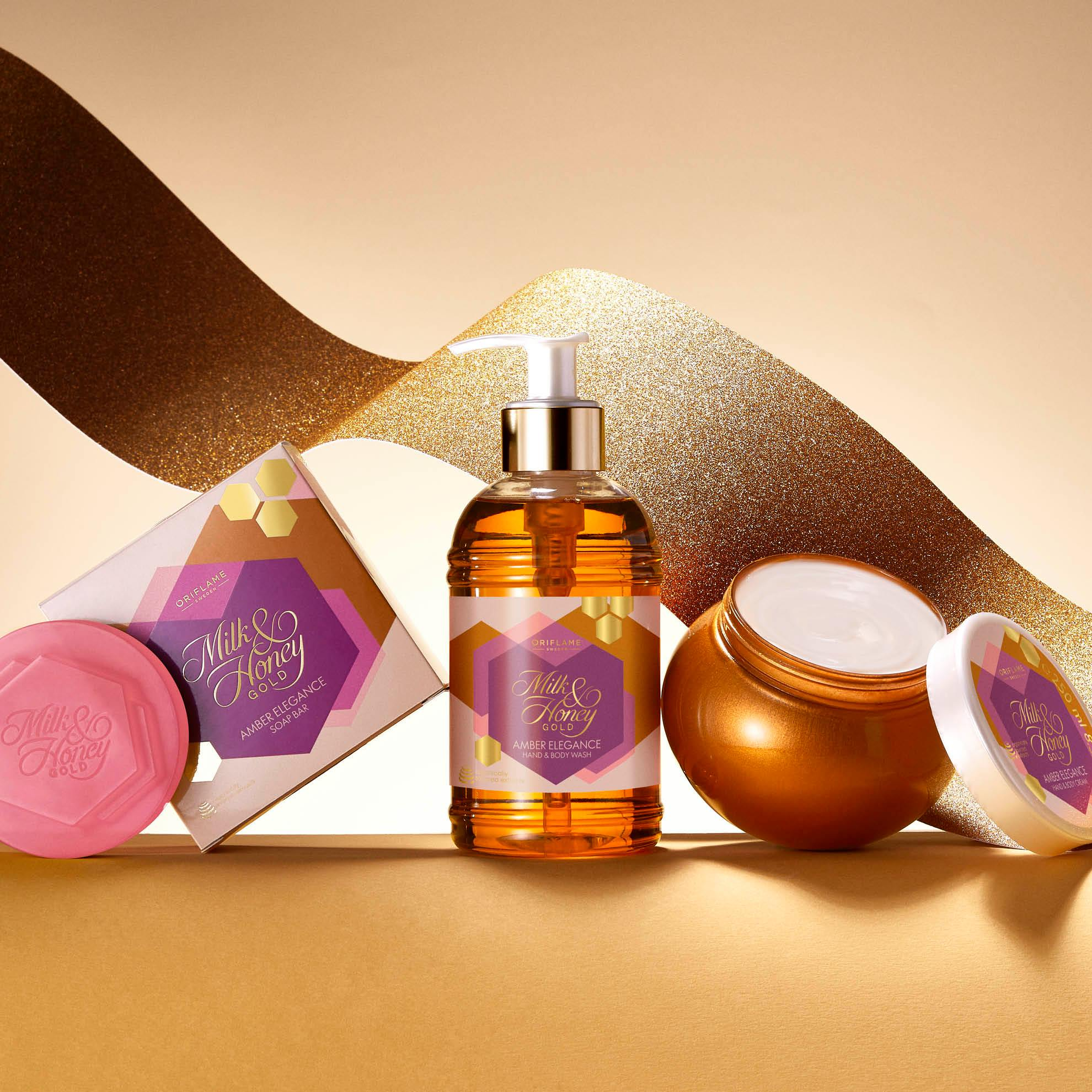 صابون شیروعسل امبر الگانس اوریفلیم Amber Elegance Soap Bar Oriflame