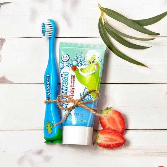 خمیردندان کودک اوریفلیم Optifresh Kids Strawberry Toothpaste Oriflame