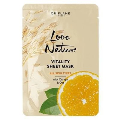 ماسک ورقه ای احیا کننده پرتقال و جو اوریفلیم Vitality Sheet Mask Oriflame