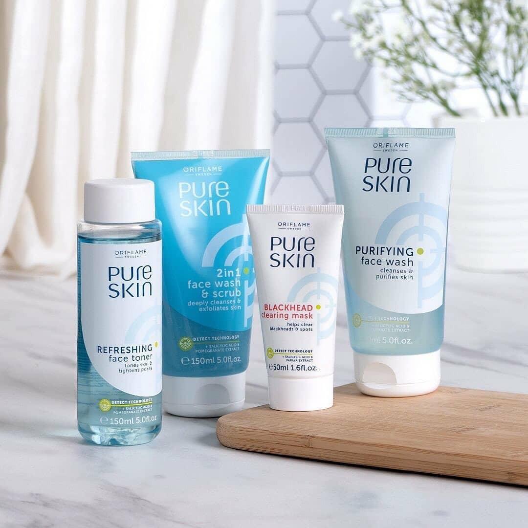 ماسک پاکسازی کننده جوشهای سرسیاه پیوراسکین اوریفلیم Pure Skin