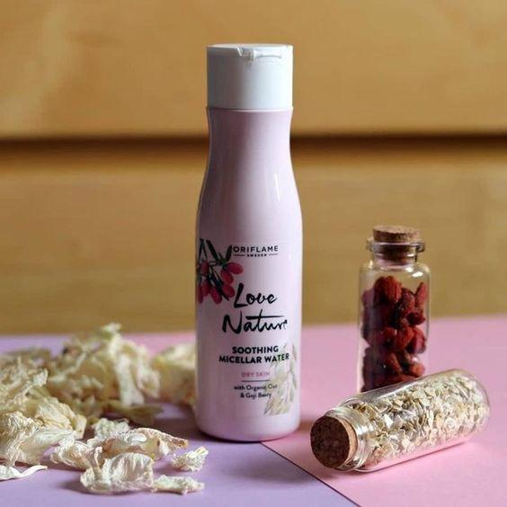 میسلار واتر جو و گوجی بری لاونیچر مخصوص پوست خشک اوریفلیم LOVE NATURE Soothing Micellar Water with Organic Oat & Goji Berry Oriflame