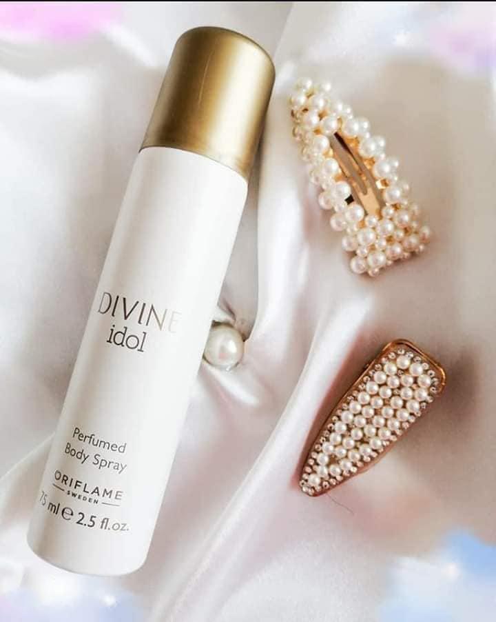 اسپری زنانه دیواین آیدل اوریفلیم Divine Idol Perfumed Body Spray Oriflame