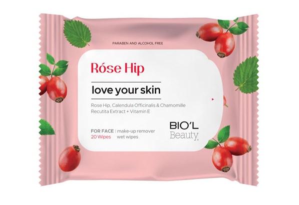 دستمال مرطوب بیول مدل رز هیپ 20 عددی Biol Rose Hip