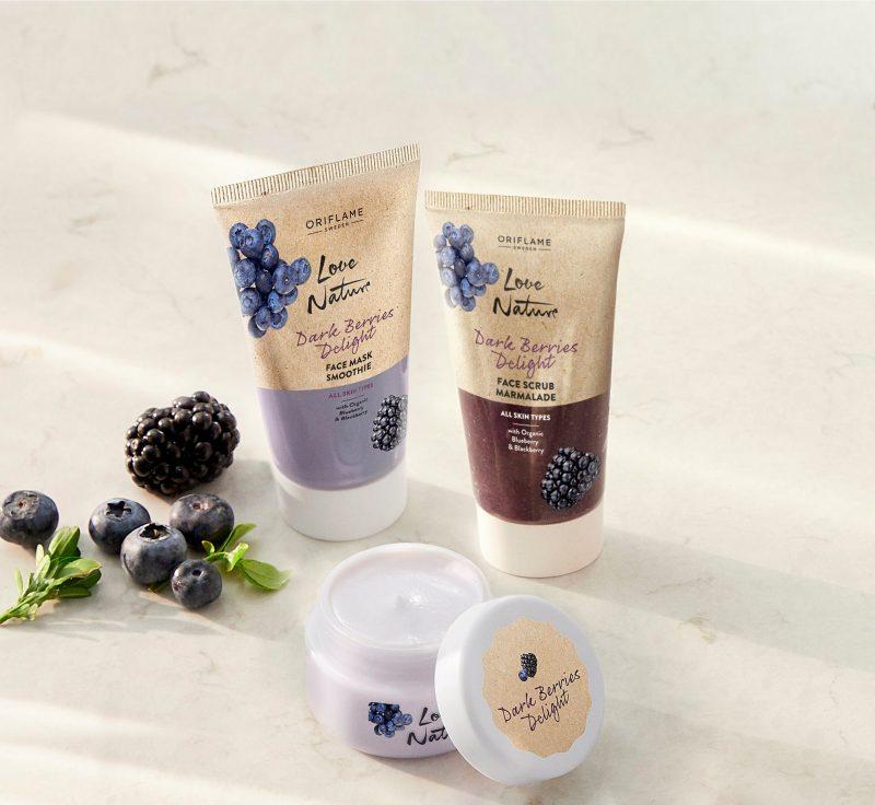 کرم صورت ماست و توت سیاه لاونیچر اوریفلیم LOVE NATURE Dark Berries Delight Yoghurt Face Cream Oriflame