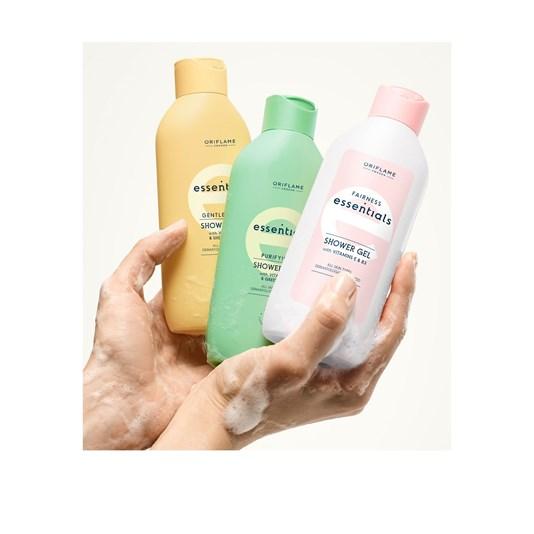 شاور ژل ویتامینه اسنشیالز اوریفلیم Glow Essentials Shower Gel With Vitamins E & B3