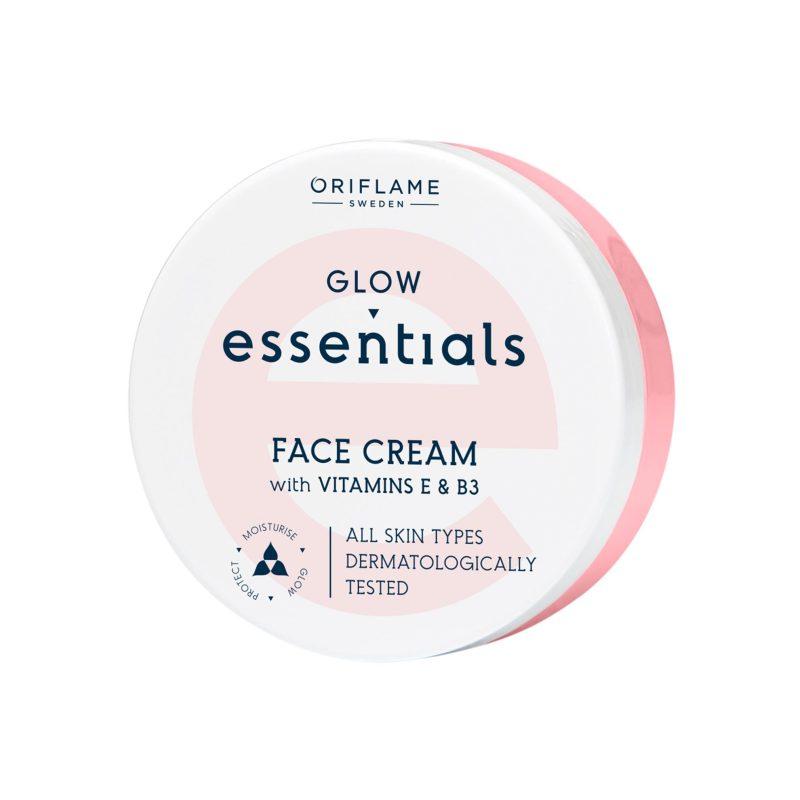 کرم صورت ویتامینه اسنشیالز گلو اوریفلیم Glow Essentials Face Cream with Vitamins E & B3 Oriflame