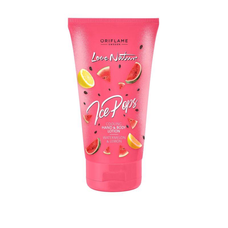 لوسیون بدن هندوانه و لیمو لاونیچر اوریفلیم ICE POPS COLLECTION Ice Pops Cooling Hand & Body Lotion Watermelon & Lemon Oriflame