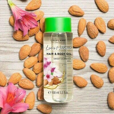 روغن مو و بدن بادام لاونیچر اوریفلیم LOVE NATURE Hair & Body Oil Sweet Almond Oil Oriflame