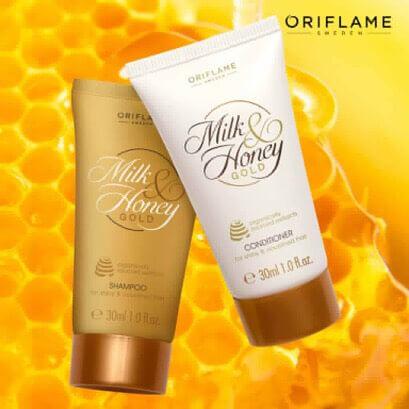 شامپو سفری شیروعسل اوریفلیم MILK & HONEY GOLD Shampoo Oriflame