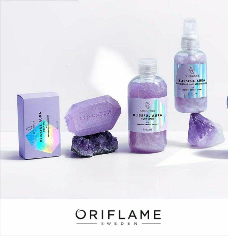 صابون کریستولوژی بیسفول آئورا اوریفلیم Crystologie Blissful Aura Soap Bar Oriflame
