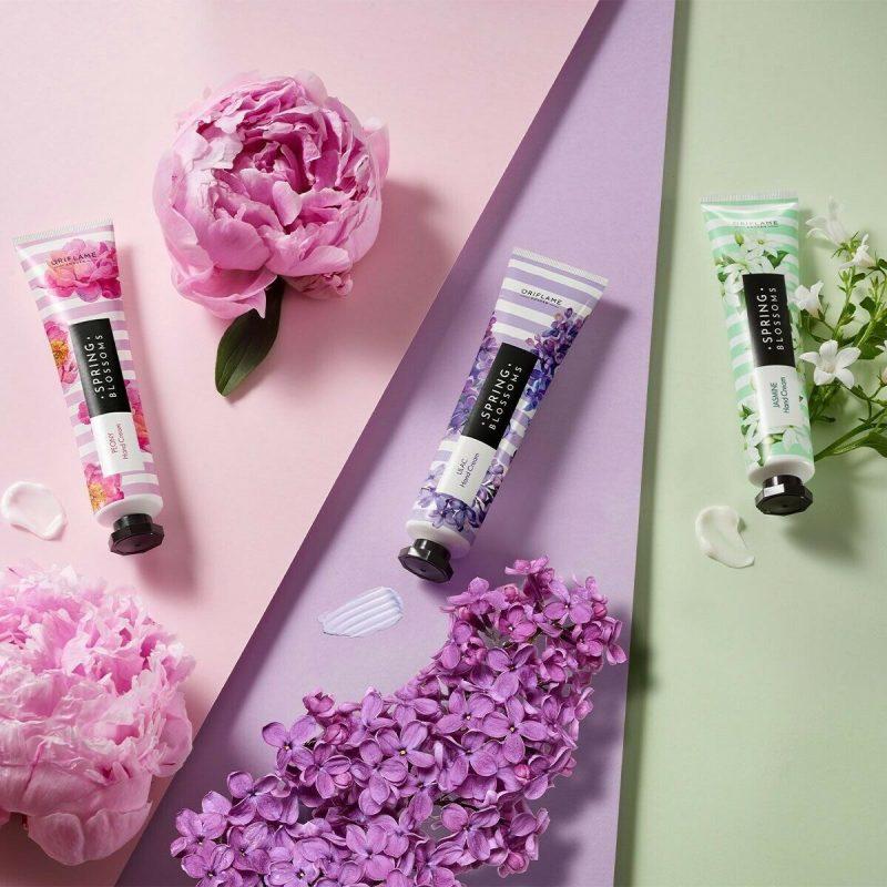ست کرم دست سه تایی اسپرینگز بادی کر اوریفلیم BODY CARE Spring Blossoms Hand Cream Trio Peony Lilac Jasmine Oriflame