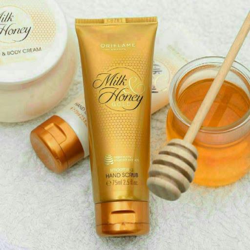 اسکراب نرم کننده دست شیروعسل اوریفلیم MILK & HONEY GOLD Smoothing Hand Scrub Oriflame