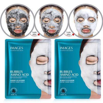 ماسک حباب ورقه ای کربن آمینو اسید ایمیجز Images Amino Acid Bubbles Facial Mask