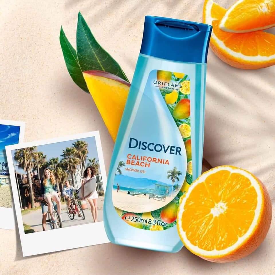 شاورژل دیسکاور سواحل کالیفرنیا اوریفلیم DISCOVER California Beach Shower Gel Oriflame