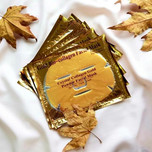 ماسک ورقه ای طلایی کلاژن گلدبایو Gold Bio Collagen Facial Gold Mask