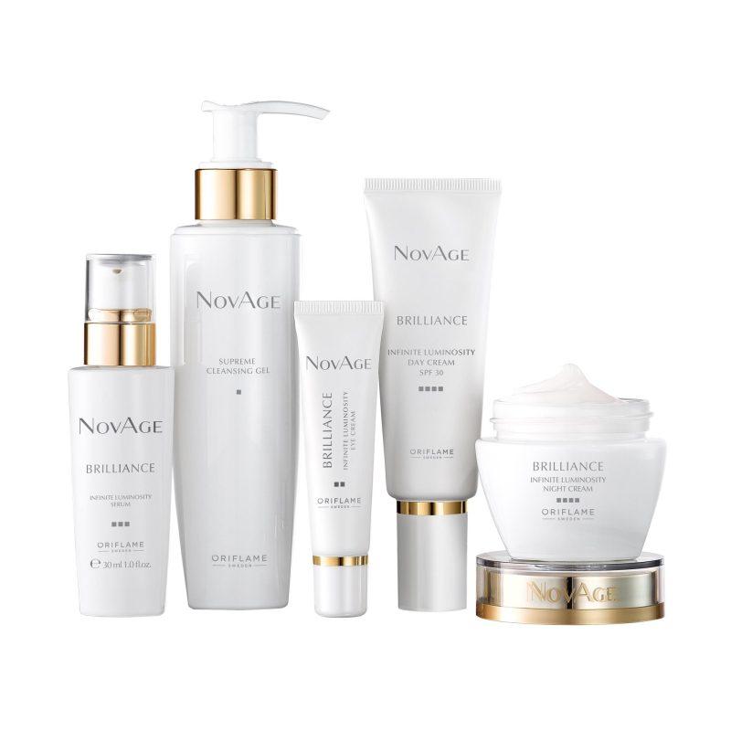ست روشن کننده برلیانس نوایج اوریفلیم Novage Brilliance Infinite Luminosity Anti-Aging Skin Care Set Oriflame