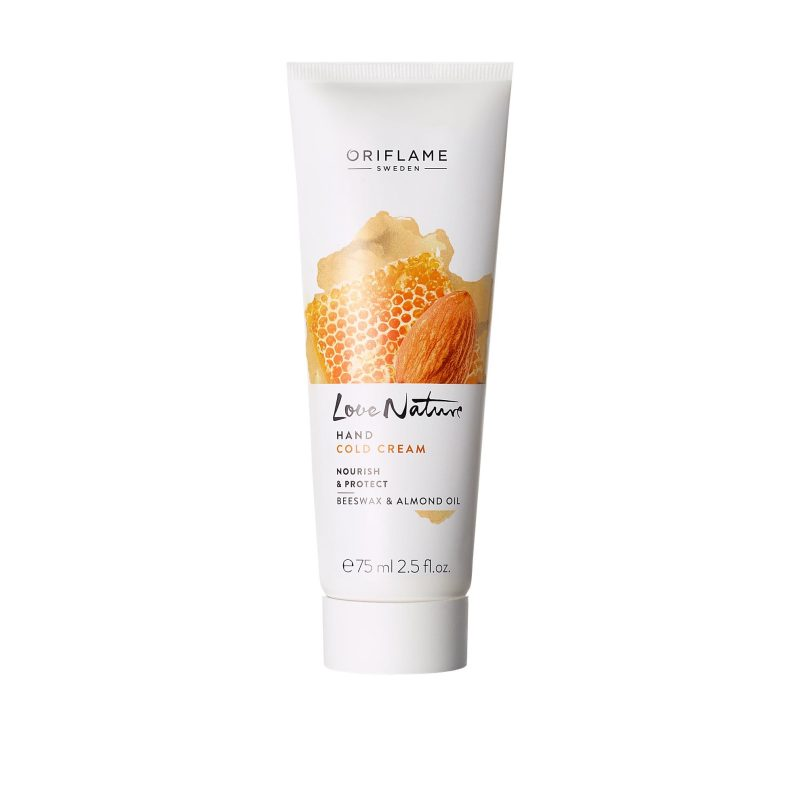 کرم دست موم عسل و بادام لاونیچر اوریفلیم LOVE NATURE Hand Cold Cream Nourish & Protect Beeswax & Almond Oil Oriflame