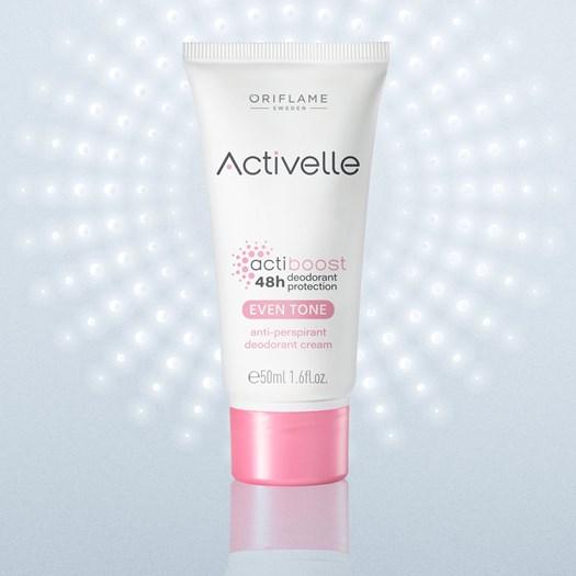 کرم دئودورانت روشن کننده و ضد تعریق اکتیول اوریفلیم ACTIVELLE Even Tone anti-perspirant deodorant cream Oriflame