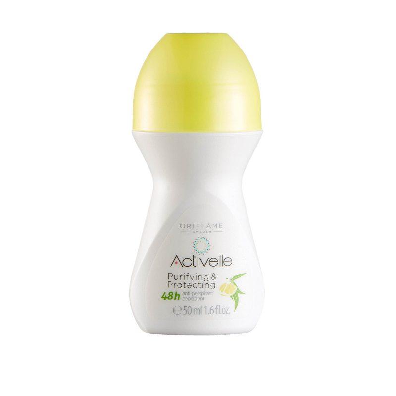مام دئودورانت لیمویی 48 ساعته اکتیول اوریفلیم ACTIVELLE Purifying & Protecting Anti-perspirant 48h Deodorant Oriflame