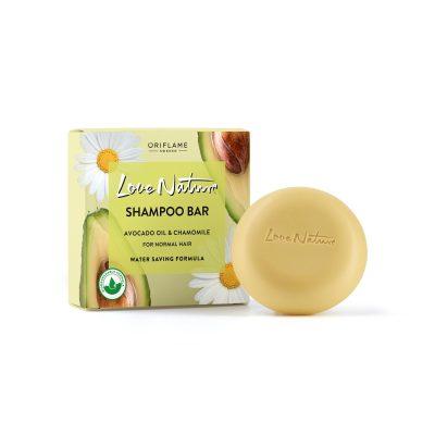شامپو جامد آووکادو و بابونه لاونیچر اوریفلیم LOVE NATURE Shampoo Bar Avocado Oil & Chamomile for Normal Hair Oriflame