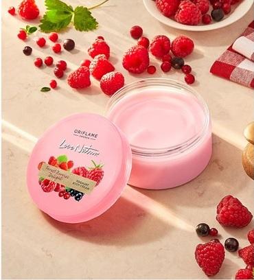کرم بدن توت جنگلی و ماست لاونیچر اوریفلیم LOVE NATURE Forest Berries Delight Yoghurt Body Cream Orfilame