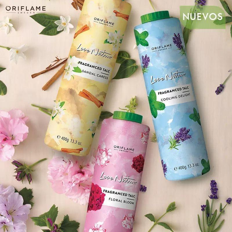 پودر بدن ضد تعریق صندل لاونیچر اوریفلیم LOVE NATURE Fragranced Talc Sandal Caress Oriflame