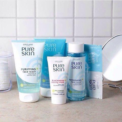 ماسک لایه بردار و روشن کننده دومرحله ای پیور اسکین اوریفلیم PURE SKIN 1 Clarifying Face Scrub & 2 Purifying Face Mask Oriflame