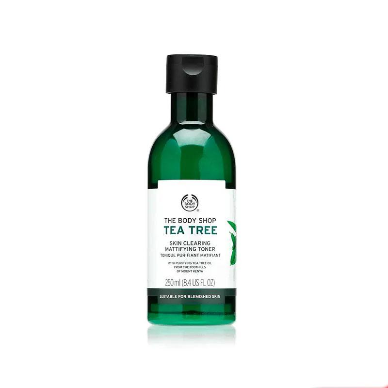 تونر مات کننده تی تری بادی شاپ حجم 250 میل حاوی روغن درخت چای Body Shop Tea Tree Skin Clearing Mattifying Toner