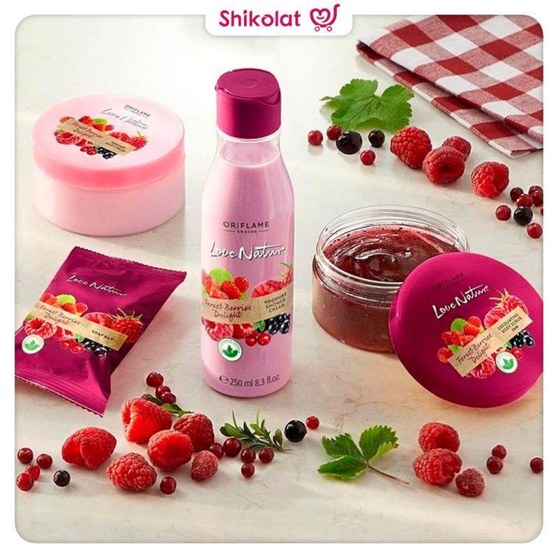 صابون توت جنگلی فراست بریز لاونیچر اوریفلیم LOVE NATURE Forest Berries Delight Soap Bar Oriflame