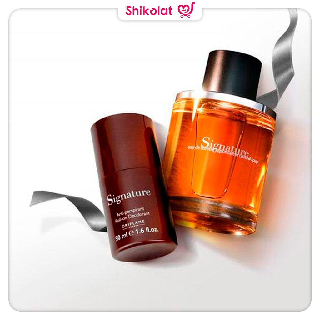 مام دئودورانت مردانه سیگنیچر اوریفلیم Signature Anti-perspirant Roll-On Deodoran Oriflame