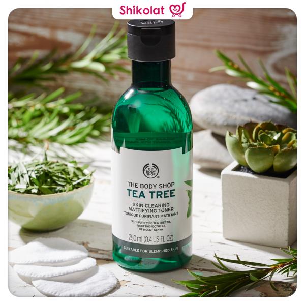 تونر مات کننده درخت چای بادی شاپ Tea Tree Skin Clearing Mattifying Toner Body Shop