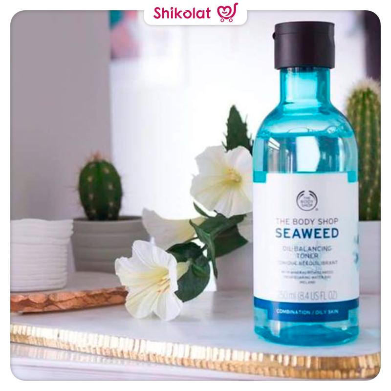 تونر سیوید بادی شاپ مخصوص پوست مختلط و چرب The Body Shop Seaweed Oil Balancing Toner