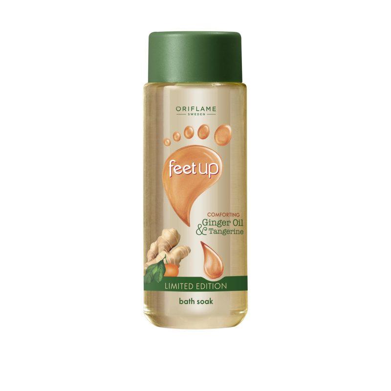 روغن رطوبت رسان پا زنجبیل و نارگیل فیت آپ اوریفلیم FEET UP Comforting Ginger Oil & Tangerine Bath Soak Oriflame