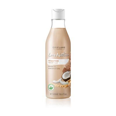 شامپو گندم و نارگیل لاونیچر اوریفلیم مناسب موهای خشک و آسیب دیده LOVE NATURE Shampoo for Dry Hair Wheat & Coconut Oil Oriflame