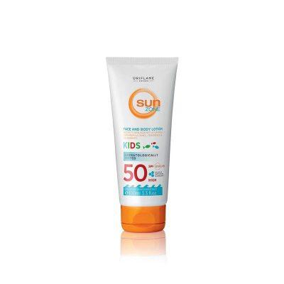 لوسیون صورت و بدن کودکان سان زون اوریفلیم |حجم 100 میل | Sun Zone Face & Body Lotion Kids SPF 50 High Oriflame