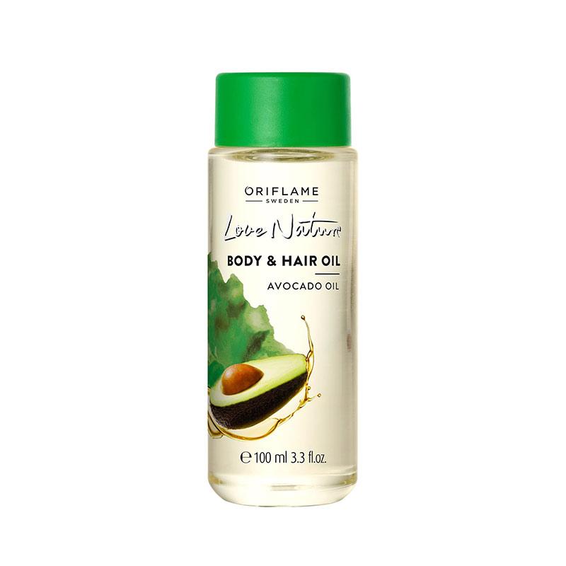 روغن مو و بدن آواکادو لاونیچر اوریفلیم LOVE NATURE Body & Hair Oil Avocado Oil Oriflame