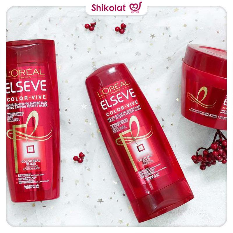 شامپو مخصوص موهای رنگ شده لورآل مدل color vive حجم 450 میل Loreal Elseve Color Vive Shampoo 450ml