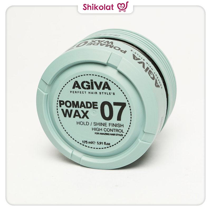واکس مو آگیوا مدل Pomade Wax 07 حجم 175 میلی لیتر Agiva Hair Styling Pomade Wax 07 Shiny Finish Strong Hold