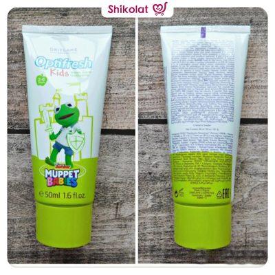 خمیردندان کودکان اپتیفرش اوریفلیم DISNEY Oriflame Optifresh Kids Green Apple Toothpaste Disney Junior Muppet Babies Oriflame