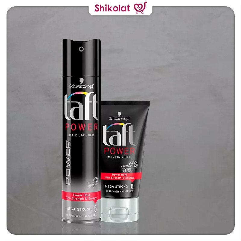 اسپری نگهدارنده حالت مو تافت Power Hair Lacquer حجم 250 میلی لیتر Taft Mega Strong Power Hair Lacquer Spray