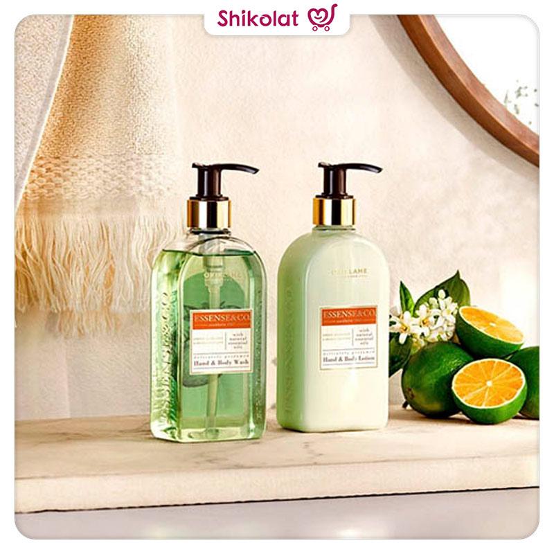 لوسیون بدن پرتقال و ماندارین اسنزکو اوریفلیم ESSENSE&CO Green Mandarin & Orange Blossom Hand & Body Lotion Oriflame
