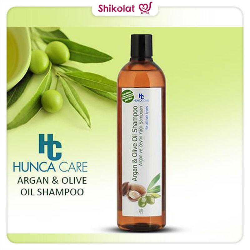 شامپو گیاهی هونجا کر حاوی روغن آرگان و زیتون Hunca Care Argan & Olive Oil Shampoo