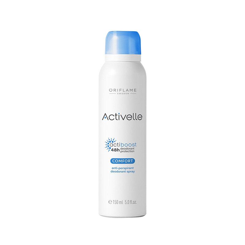 اسپری اکتیول دئودورانت کامفورت اوریفلیم حجم 150 میل ACTİVELLE Comfort Anti-perspirant Deodorant Sprey Oriflame