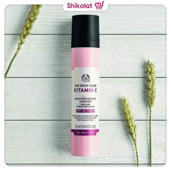 امولسیون ویتامین E بادی شاپ حاویSPF30 حجم 50 میل The Body Shop Vitamin E Moisture-Protect Emulsion SPF30