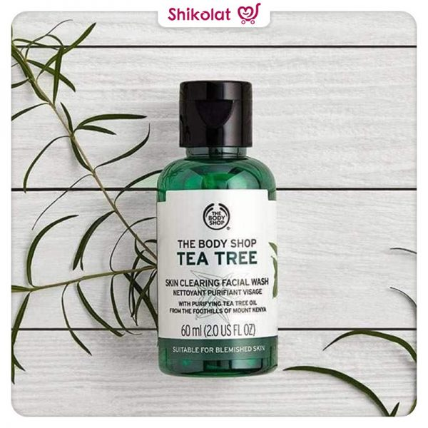 تونر مات کننده تی تری بادی شاپ حجم 60 میل حاوی روغن درخت چای Body Shop Tea Tree Skin Clearing Mattifying Toner 60ML