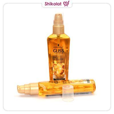 روغن مو آرگان الکسیر گلیس حجم 75 میلی لیتر Schwarzkopf Gliss Daily Oil Elixir Hair Repair