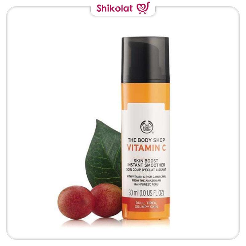 سرم ویتامین C بادی شاپ درخشان کننده و تقویت کننده پوست حجم 30 میل The Body Shop Vitamin C Skin Boost Instant Smoother